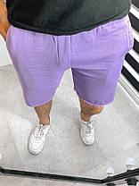 Мужские трикотажные шорты фиолетового цвета свободные, фото 3