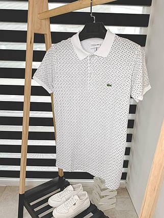 Чоловіча футболка-поло сірого кольору, фото 2
