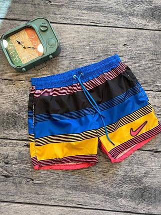 Чоловічі плавальні Найк шорти кольорові, фото 2