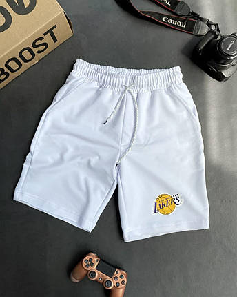 Чоловічі трикотажні шорти білого кольору, фото 2