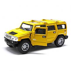 Машинка HUMMER H2 SUV Kinsmart KT5337W інерційна, 1:40 (Жовтий)
