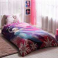 Подростковое постельное белье TAC  DISNEY простынь на резинке FROZEN ELSA