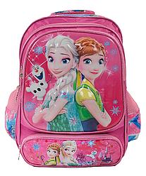 """Рюкзак школьный """"Холодное сердце"""" 3D принт Розовый"""