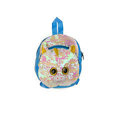 """Дитячий рюкзак з паєтками """"Єдиноріг"""" BG0661 (Рожево-Блакитний)"""