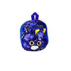 """Дитячий рюкзак з паєтками """"Єдиноріг"""" BG0661 (Темно-Синій)"""