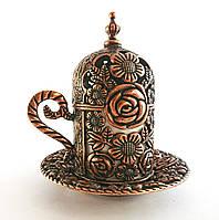 Турецкая чашка для кофе 60 мл, цвет: медь