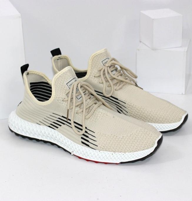Чоловічі літні світлі текстильні кросівки