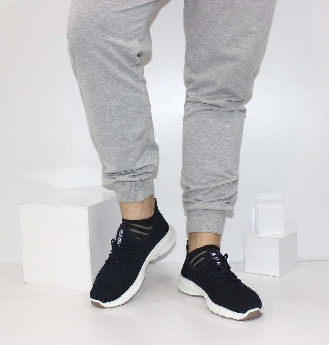 Мужские летние текстильные кроссовки темно-синие