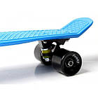 Скейтборд Пенниборд Nickel 27 матовые колеса Синий, фото 5