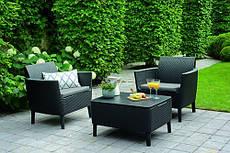 Набор мебели для сада Salemo balcony set графит