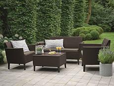 Набор мебели для сада Salemo balcony set цвет коричневый