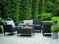 Набор мебели для сада Salemo balcony set цвет графит - прохладный серый