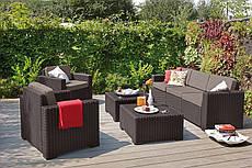 Комплект садовой мебели California 3 seater серый