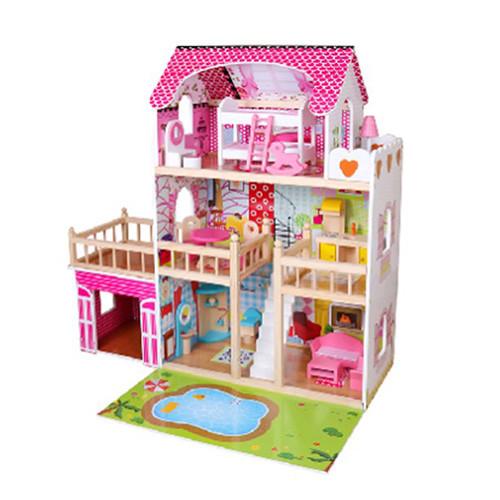Будиночок для ляльок збірний MD 2672 з меблями
