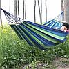 Мексиканський підвісний бавовняний гамак з планкою 100см/200см. Гамак садовий з поперечиною 2 кольори., фото 5
