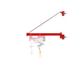 Поворотна рама для кріплення Тельфера 600кг 750мм