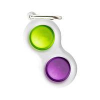 Сенсорна іграшка Simple Dimple поп іт антистрес сімпл дімпл pop it брелок трикутник фіолетовий