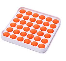 Іграшка-антистрес поп іт фиджет силіконовий квадрат з обідком помаранчевий