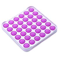 Іграшка-антистрес поп іт фиджет силіконовий квадрат з обідком рожевий