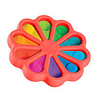 Сенсорна іграшка Simple Dimple поп іт антистрес сімпл дімпл pop it квітка кораловий