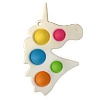 Pop It сенсорна іграшка, пупырка, поп іт антистрес, pop it fidget, попит, білий єдиноріг точки