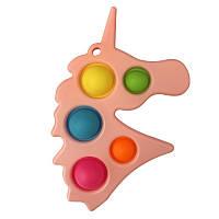 Pop It сенсорна іграшка, пупырка, поп іт антистрес, pop it fidget, попит, рожевий єдиноріг точки