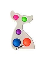 Сенсорна іграшка Simple Dimple поп іт антистрес сімпл дімпл pop it дитячий русалка білий