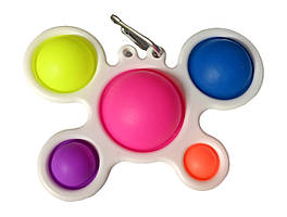 Сенсорна іграшка Simple Dimple поп іт антистрес сімпл дімпл pop it дитячий краб білий