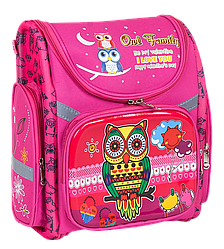 Рюкзак школьный каркасный Сова с ортопедической спинкой