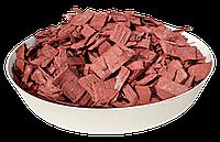 Щепа (тріска) декоративна кольорова GARDEN, 50л, червона, квадратна, 190
