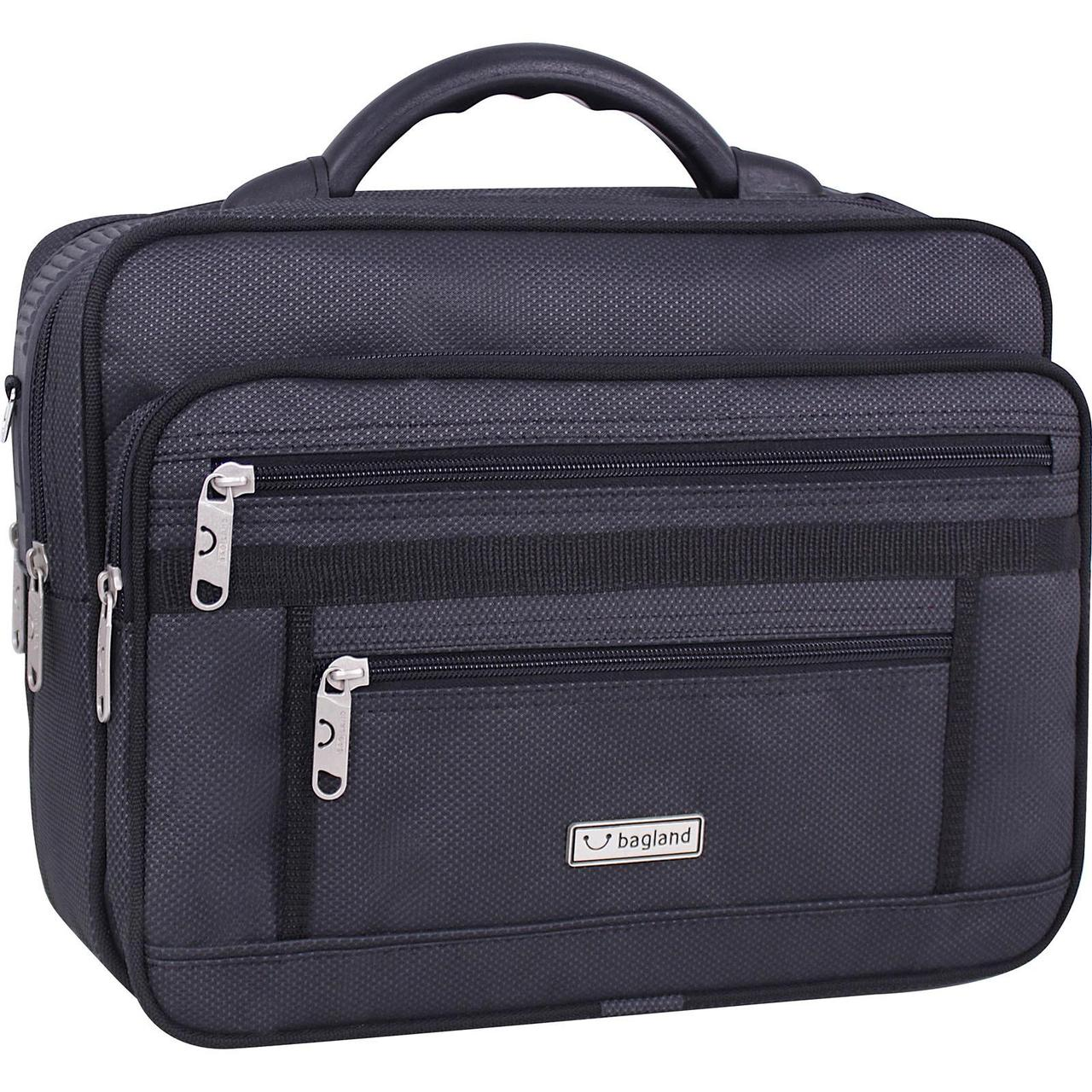 Чоловіча сумка Bagland Mr.Cool 15 л. Чорний (00251169)