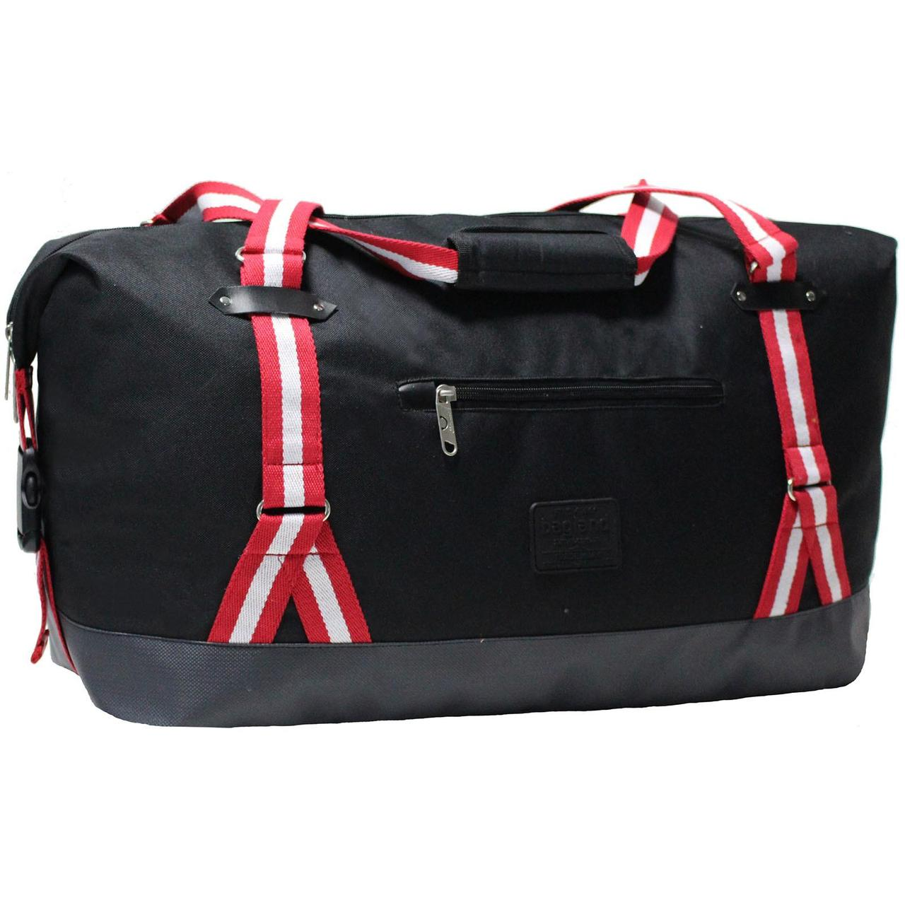 Сумка дорожная Bagland Preston, спортивная туристическая сумка для путешествий 54 л. Чёрный (0031766)