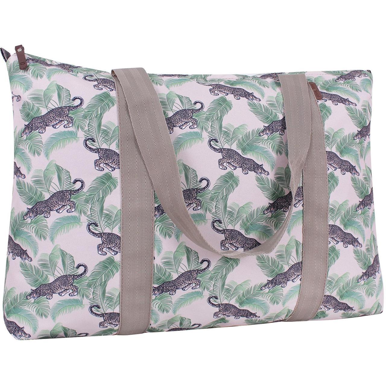 Дорожня жіноча сумка, стильна тканинна сумка для подорожі, Bagland Anita 30 л. сублімація (00731664)