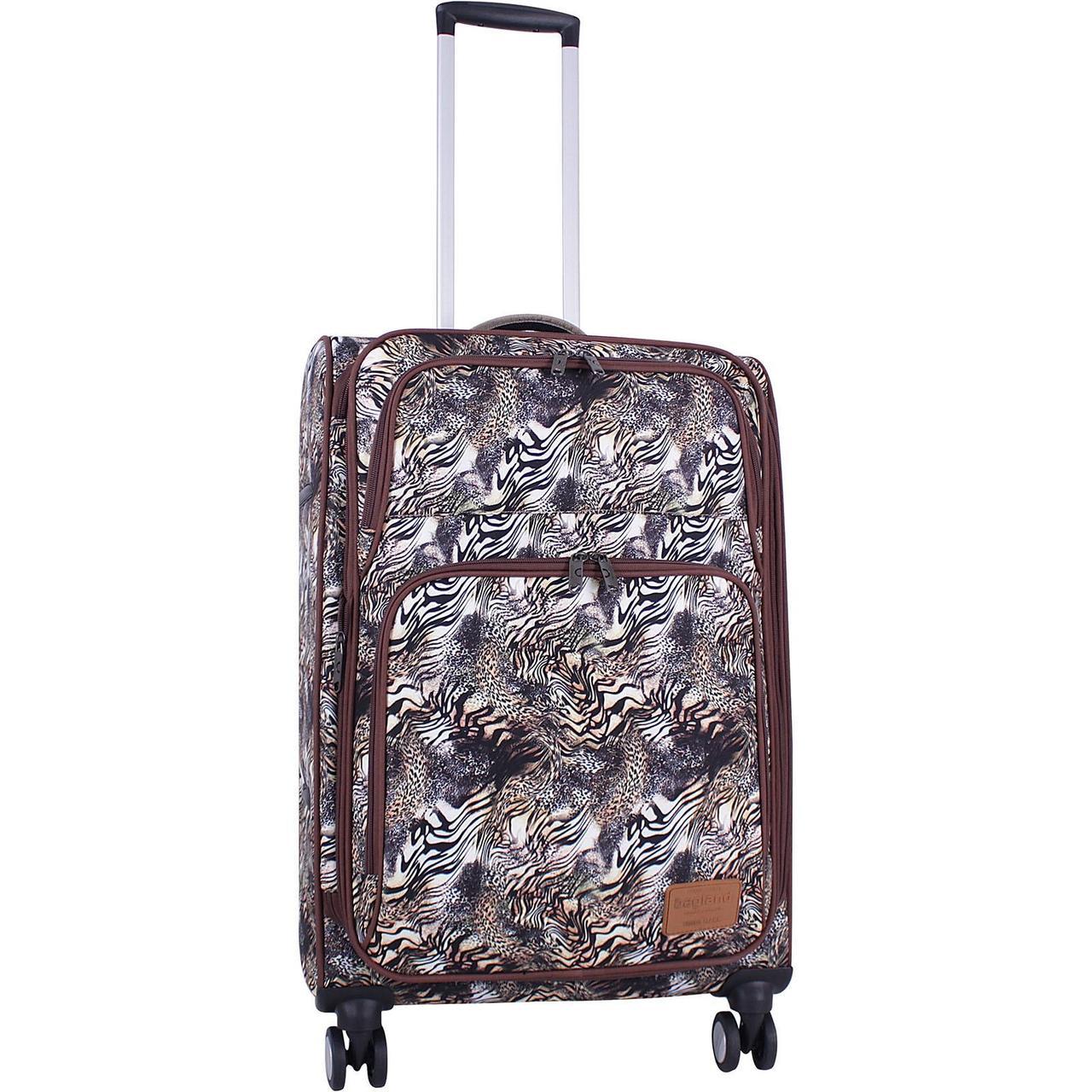 Чемодан дорожный средний, тканевый чемодан на колесах  Bagland Валенсия  63 л, сублимация   (0037966244)