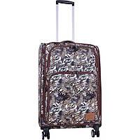 Чемодан дорожный средний, тканевый чемодан на колесах  Bagland Валенсия  63 л, сублимация   (0037966244), фото 1