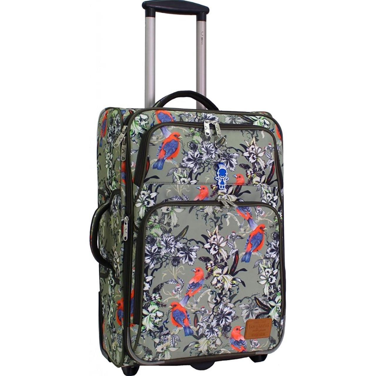 Чемодан дорожный средний, тканевый чемодан на колесах  Bagland Леон 51 л. сублімація 178 (0037666244)