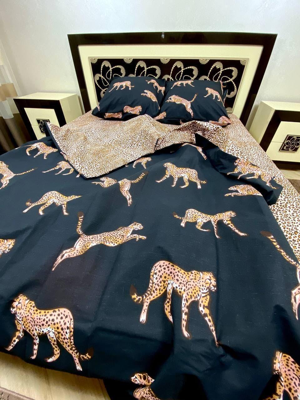Постільна білизна Gold Леопарди