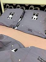 Постельное белье Бязь Gold,  Евро комплект Бязь Голд, семейная постель Американский бульдог, фото 1