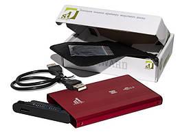 """Внешний карман 1StCharger SATA HDD/SSD 2.5"""", USB 2.0, Red (HDE1STU2520BR)"""