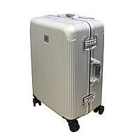 Міцна валіза на защіпках без блискавок середнього розміру 75 л Airtex срібляста, фото 1