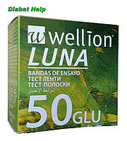Тест-полоски Веллион Луна ( Wellion Luna) 50 штук
