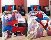 Подростковое постельное белье TAC  DISNEY простынь на резинке   SPIDER SENSE MULTIPOSES