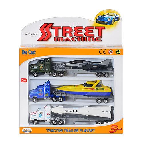 Набір метал. машинок Street Machine трейлери 3шт PT2002