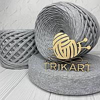 Трикотажная пряжа TRIKART Серый меланж 7-9мм