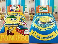 Подростковое постельное белье TAC  DISNEY простынь на резинке SPONGE BOB STUDENTS