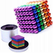 Neocube іграшка антистрес, магнітний конструктор 216 кульок, нео-куб різнобарвний