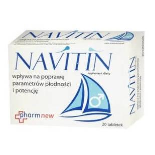 Navitin аргинин, карнитин, экстракты женьшеня, родиолы, шелковицы, мушмулы, цинк для 20 табл.