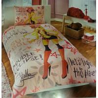 Подростковое постельное белье TAC  DISNEY простынь на резинке WINX HOLIDEY STELLA