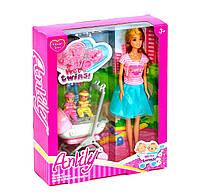 Кукла Anlily с малышами близнецами Kimi разноцветная 71328048