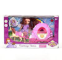 Кукла с каретой Kimi со световыми и звуковым эффектом Розовый 6966588351535